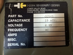 10mfd @ 4kv Oil Filled Capacitor - Product Image